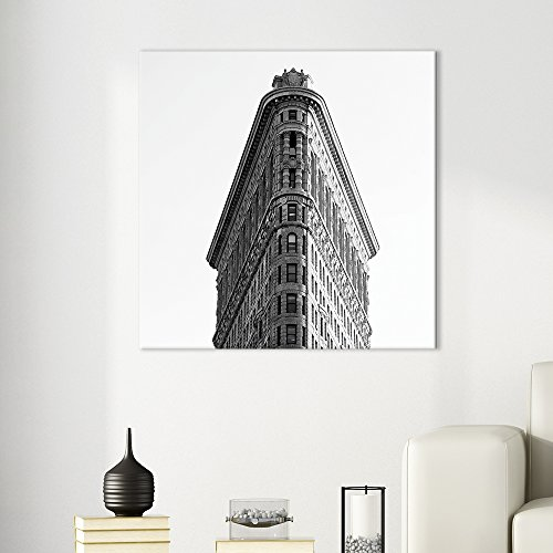 Square Classic View of The Flatiron Building in Black and White