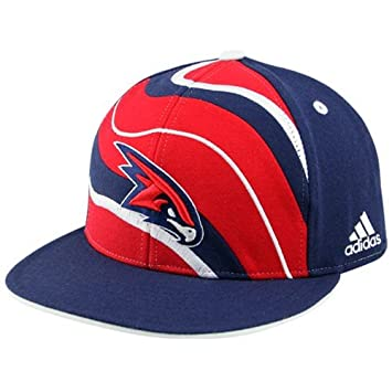 factory authentic a0792 f6673 Image Unavailable. Image not available for. Color  adidas Atlanta Hawks  Navy Blue Spiral Flat ...