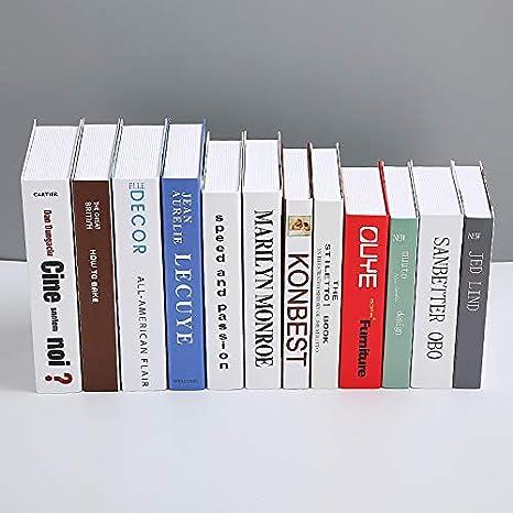 SQbjshaop Decoracion Nordic Simplified Book imitación Libro ...