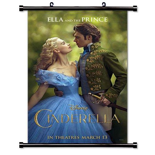 Cinderella Disney Movie 2015 Fabric Wall Scroll Poster  Inch