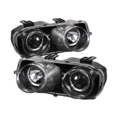 Carpart4u 6000K Xenon HID Performance Headlights Package for Acura Integra Halo Black Projector Headlights