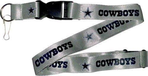 NFL Dallas Cowboys Team Color Lanyard, 22-inches, Silver ()