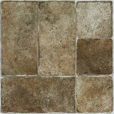 Box of 10 Self-Stick Vinyl Floor Tiles Cut Stone