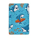 Vantaso Soft Blankets Throw Cute Funny Shark Under Water Microfiber Polyester Blankets for Bedroom Sofa Couch Living Room for Kids Children Girls Boys 60 x 90 inch