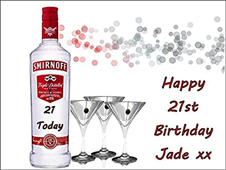 Strange A4 Vodka Edible Personalised Icing Birthday Cake Topper Amazon Co Funny Birthday Cards Online Alyptdamsfinfo