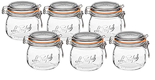 ass Canning Jar with 85mm Gasket and Lid, .5 Liter (Pack of 6) ()