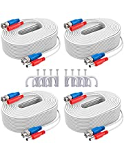 ANNKE (4) 30M/ 100ft All-in-One BNC Video Power Cables, BNC Extension Wire Cord for CCTV Camera DVR Security System (4-Pack, White)