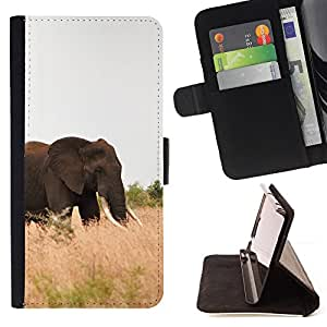 DEVIL CASE - FOR HTC One M9 - Elephant Africa Nature Summer Tusk - Style PU Leather Case Wallet Flip Stand Flap Closure Cover