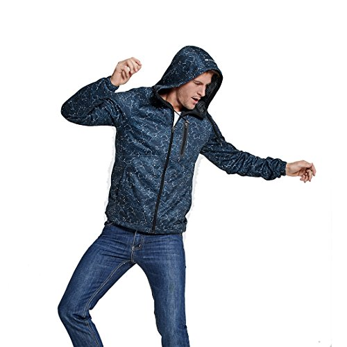 SEVENWELL Men's Zip Up Hoodies Premium Lightweight Zipper Hooded Sweatshirt for Men Active Running Sportwear (L, Blue3)