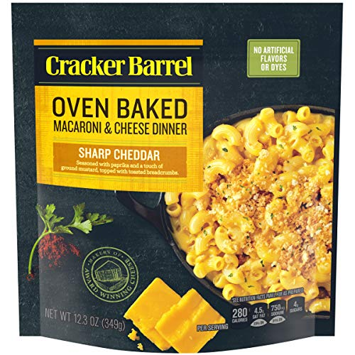 Cracker Barrel Oven Baked Sharp Cheddar Macaroni & Cheese, 12.3 oz Pouch