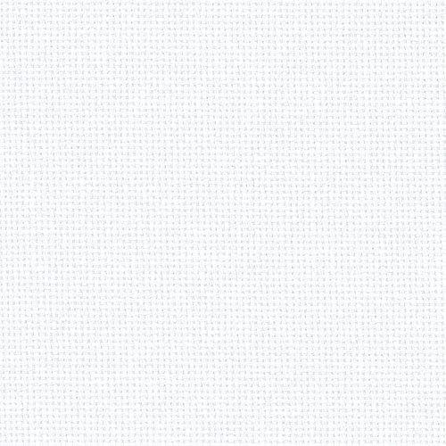 Blanc 25 Comte Zweigart Lugana Evenweave tissu 50 x 70 cm