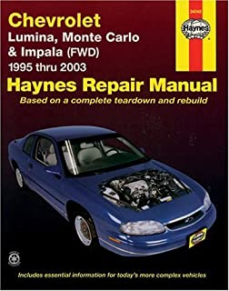 2001 impala all models service and repair manual