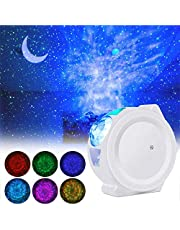 LED Night Light Projector,LUXONIC3-In-1 Sky Star Projector Night Light for Room Ocean Wave Laser Christmas Projector Light Decorative Moon Light with Sound Activated for Kids, Bedroom, Party, Holidays