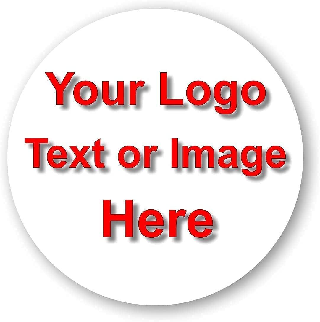 150 Custom Stickers Vinyl Round Waterproof Personalized Die Cut Text, Image, Logo (1.5 x1.5 Round)
