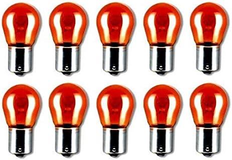 10x PY21W 12V 21W BAU15S BLINKER ORANGE AMBER LAMPEN F/ÜR SCHEINWERFER UND R/ÜCKLEUCHTEN FALTSCHACHTEL 10 ST/ÜCK Jurmann/® LongLife /& Ersch/ütterungsfest