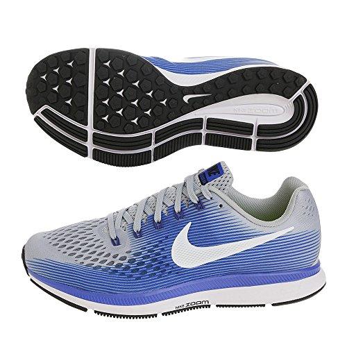 NIKE Mens Air Zoom Pegasus 34 Running Shoes 9, Grey Blue-EW