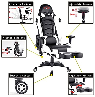 Top Gamer Gaming Chair PC Computer Game Chairs for Video Game by Top Gamer