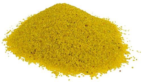 50 OZ acuario color amarillo Decoración mármoles ornamento de arena y grava guijarros Stones
