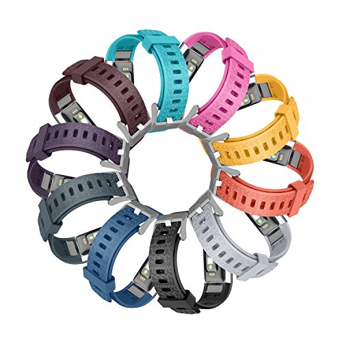 GreenInsync Compatible Fitbit Charge 2 Bands, for Fitbit Charge 2 Replacement Bands Buckle Wristband Fitbit HR2 Bracelet Accessory Bands Small Large W/Secure Fasteners Metal Clasps for Men Women Kids