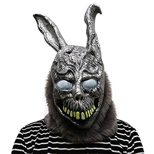 Frank Donnie Darko Halloween Costume (Donnie Darko Frank the Bunny Mask Latex Overhead with Fur Scary Animel Rabbit Mask by hearty)