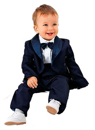 Boutique-Magique Costume Mariage bébé Queue-de-Pie Bleu Marine ... 2974e89038b