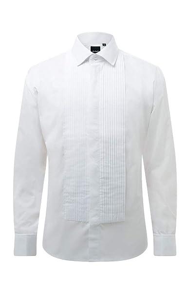 Dobell Camisa de Vestir con Delantero Plisada, Cuello estándar ...