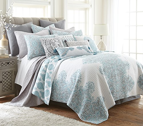 Avalon Spa Full/Queen Quilt Set, Spa, Global by Levtex