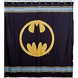 Warner Bros Batman Logo Microfiber Shower Curtain, 72 Inch By 72 Inch