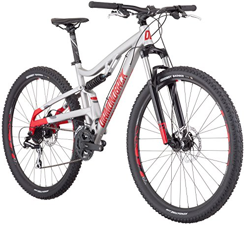 Diamondback Bicycles Recoil 29er Full Suspension Mountain Bike, Light Silver, 18