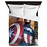 CafePress - Avengers Super Soldier Captain America - Queen Duvet Cover, Printed Comforter Cover, Unique Bedding, Microfiber