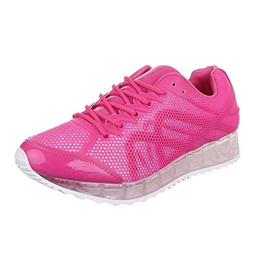 Rosa rosa Design Ital Mujer de tiempo libre zapatos Z0BwvgqzwY