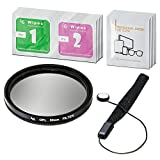 LS Photography 52mm CPL Filter Camera Lens, Camera Accessory, Lens Cap Holder, Cleaning Wipes, LGG364