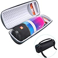 Travel Bag For JBL Pulse 3 Portable Splashproof Bluetooth Speaker - MASiKEN 2017 Design Hard Protective Carrying Case Speaker Cover Pouch Box For JBL Pulse 3 Included Extra Room Fits Charger ( Grey )