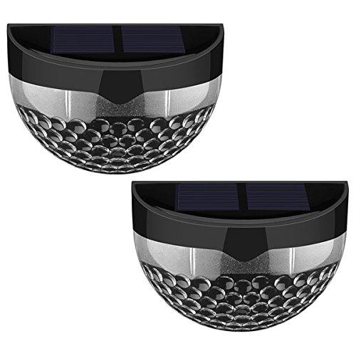 Black 6-LED Solar-powered Wireless Weatherproof Auto-sensor Outdoor Lights (Set of 2)