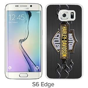 2015 New Style harley davidson logo White Samsung Galaxy S6 Edge G9250 Phone Case