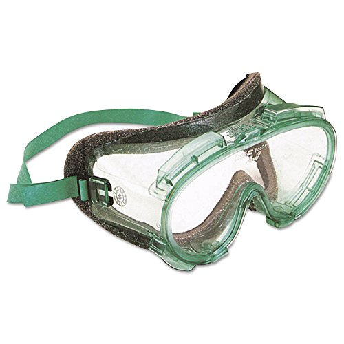 211 Eyeglasses - Jackson Safety 16668 V80 MONOGOGGLE 211 Goggles, Clear/Green, Antifog, Foam Lining