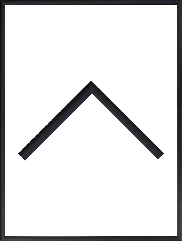 RahmenMax Aluminium Bilderrahmen Alaska 66 x 99 cm aktuelle Farbe  Schwarz Matt mit Acrylglas klar 1mm Echtes Metall Aluminium