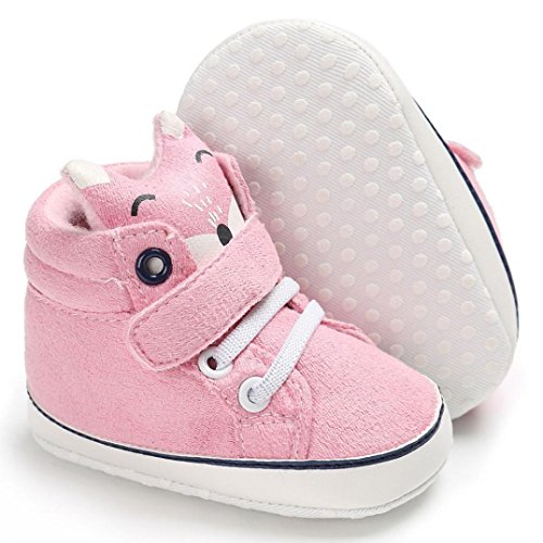 ❀Child Boots,High Cut Shoes Toddler Winter Baby Fox Sneakers Anti-Slip Soft Sole Shoes By Orangeskycn (12~18 Month, Pink)