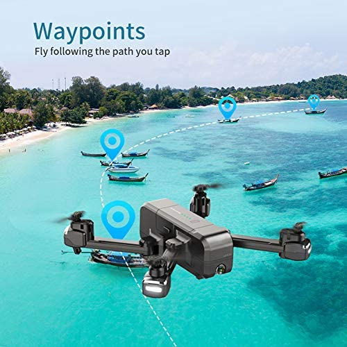 SNAPTAIN SP510 Foldable GPS FPV Drone with 2.7K Camera for Adults UHD Live Video RC Quadcopter for Beginners with GPS, Follow Me, Point of Interest, Waypoints, Long Control Range, Auto Return