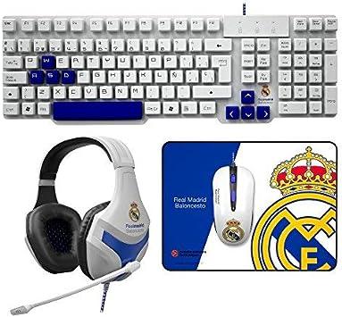 MARSGAMING Mars Gaming BLRM3 - Pack Teclado,ratón,Auriculares y Alfombrilla del Real Madrid