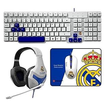 Mars Gaming BLRM3 - Pack Teclado,ratón,Auriculares y Alfombrilla del Real Madrid: Amazon.es: Informática