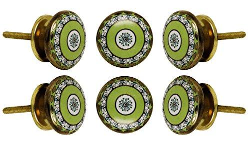 Set of 6 Ceramic Tessellate Drawer Knobs Kitchen Cabinet Dresser Pull