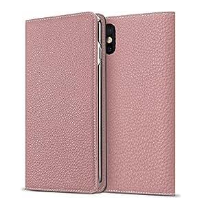 BONAVENTURA iPhone X Leather Wallet Case (Beautiful European Full-Grain Leather) | Luxury Flip Cover Folio Case [iPhone X | Pink]