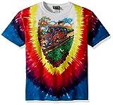 Liquid Blue Unisex-Child Big Kids Grateful Dead Summer Tour Bus Short Sleeve T-Shirt, Tie-Dye, Medium