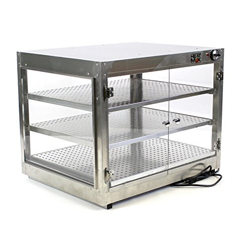 Commercial Food Pizza Pastry Warmer Countertop Cabinet 30''x24''x24'' Wide Display by HeatMax
