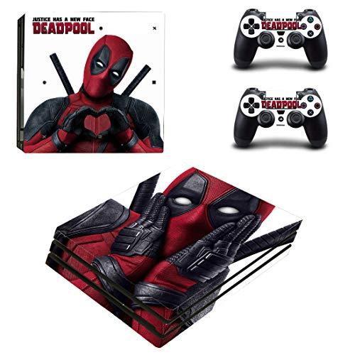 Adventure Games – PS4 PRO – Deadpool – Playstation 4 Vinyl Console Skin Decal Sticker + 2 Controller Skins Set