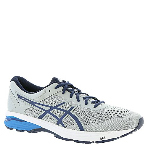 ASICS Men's GT-1000 6 Running Shoe, Mid Grey/Peacoat/Directoire Blue, 10 2E US