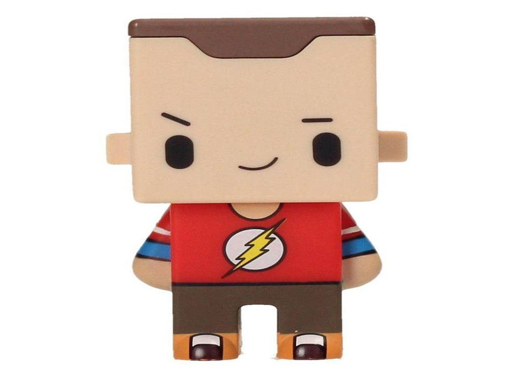 SD toys - Figurine Pixel Big Bang Theory - Sheldon Flash Tees 7cm - 8436541021976