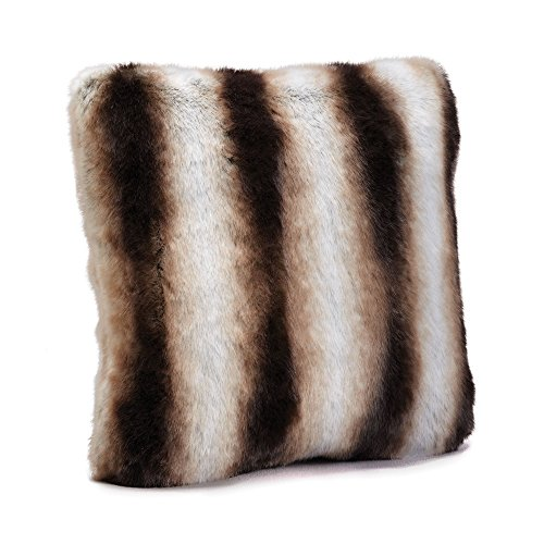 Fabulous Furs: Faux Fur Luxury Pillow, Chinchilla, Available in standard size 18