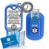 Medical Alert INFORMER USB Dog Tag - Blue